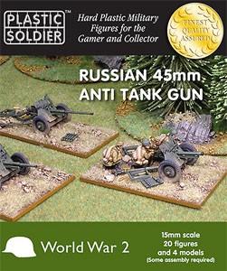 Plastic Soldier 15mm Russian 45 mm Gun (x4 für FoW)