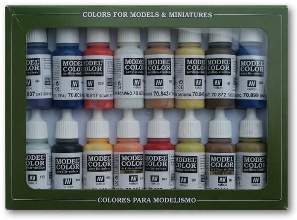 Vallejo Model Color: Set American Colonial Colors (16 Farben)