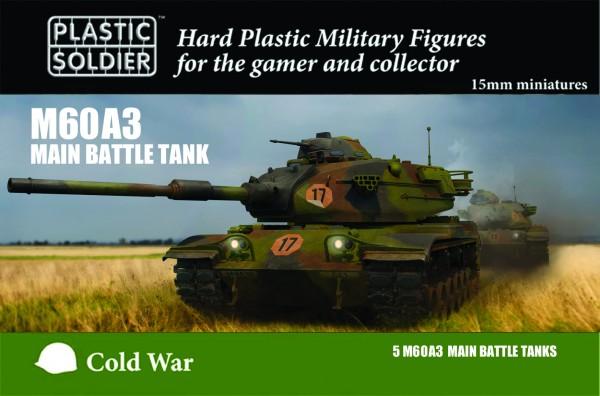 Plastic Soldier 15mm M60A3 Tank (plastic x5)