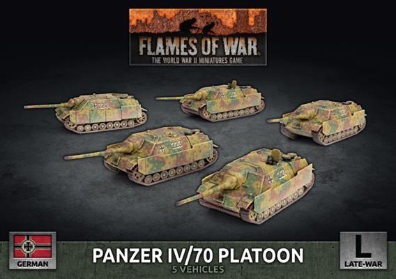 Flames of War Panzer IV/70 Platoon (x5)