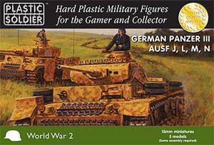 Plastic Soldier 15mm WW2 German Panzer III J,L,M,N (für FoW)