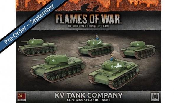 Flames of War SU: KV-1/1s Tank Company (x5 Plastik)