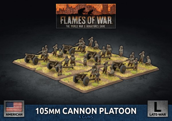 Flames of War US: US Army 105mm Cannon Platoon (Plastic)