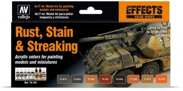 Vallejo Model Color: Model Color: Staining, Rust & Streaking (8)