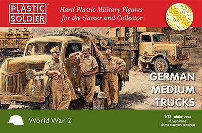 Plastic Soldier: 1/72 German Medium Trucks (Plastik x3)