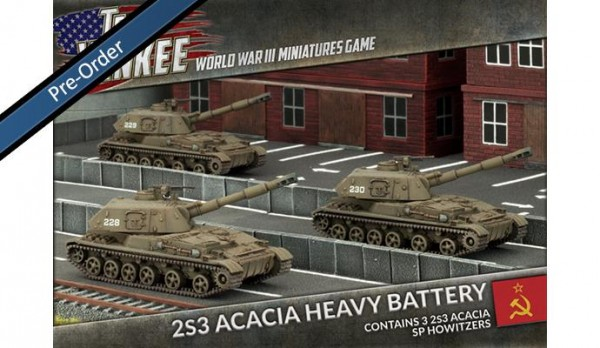 Team Yankee 2S3 Acacia Heavy SP Platoon (x3)