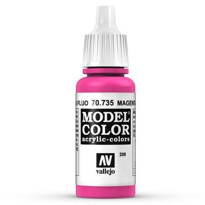 Vallejo Model Color: 208 Leuchtmagenta (Magenta Fluo), 17 ml (735)