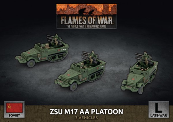 Flames of War SU: ZSU M17 AA Platoon (x3 Plastic)
