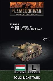 Flames of War: Hungarian Toldi Light Tank (x1)