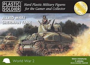 Plastic Soldier 15mm Allied Sherman M4A1 75mm Tank (für FoW)