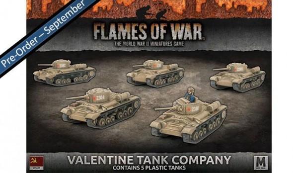 Flames of War SU: Valentine Tank Company (x5 Plastik)