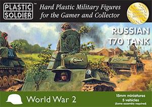 Plastic Soldier 15mm WW2 Russian T-70 Tank x 5 (für FOW)