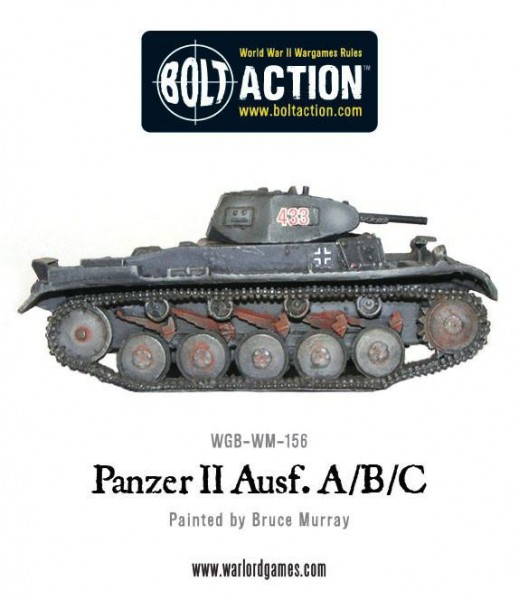 Bolt Action: German Panzer II Ausf. A/B/C