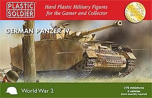 Plastic Soldier: 1/72 Panzer IV (Plastik x3)