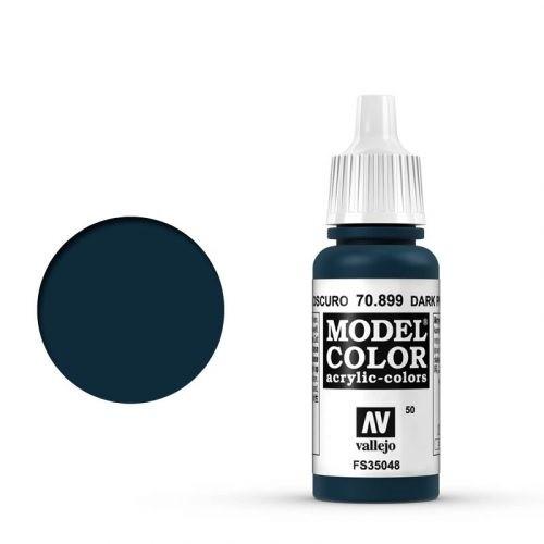 Vallejo Model Color: 050 Dunkles Preussisch Blau (Dark Prussian Blue), 17 ml (899