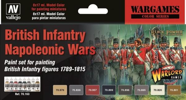 Vallejo Model Color: Model Color: British Infantry Napoleonic Wars Paint Set (6)