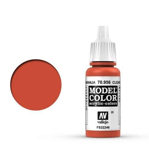 Vallejo Model Color: 025 Feuerrot (Clear Orange), 17 ml (956)