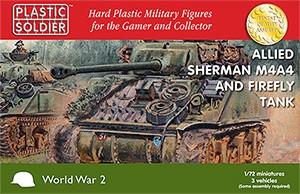 Plastic Soldier: 1/72 Sherman M4A4 / Firefly (Plastik x3)