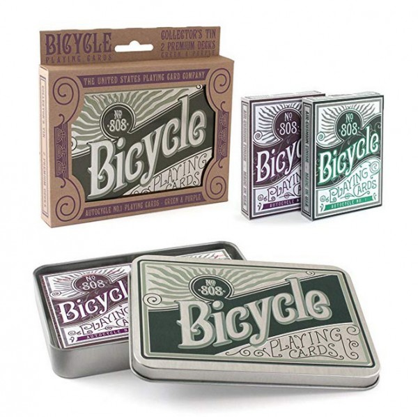 Poker: Bicycle Playing Cards Autocycle N1 2-Pack in Blechdose