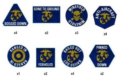 Team Yankee Marine Tokens Set (x22)