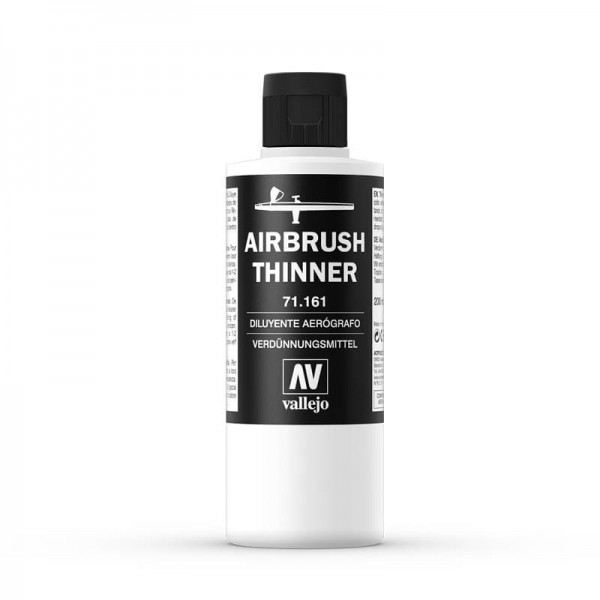 Vallejo Airbrush Verdünner (Thinner) (200ml) -neue Formel-
