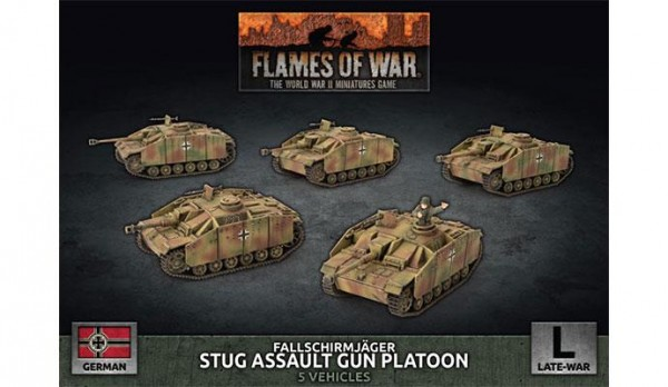 Flames of War GE: LW FJ StuG Platoon (x5 Plastik)