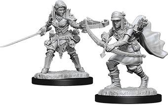 Pathfinder Deep Cuts Mini.: Female Half-Elf Ranger