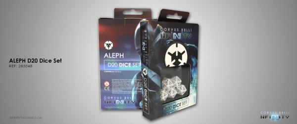 Infinity: Aleph D20 Dice Set (set of five 20-sided dice)