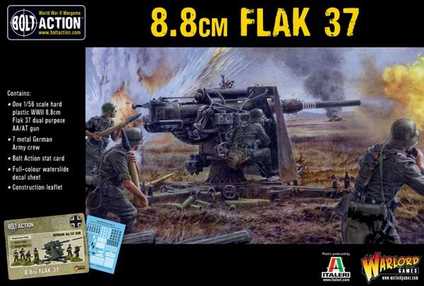 Bolt Action: FlaK37 8,8 cm (Plastik)