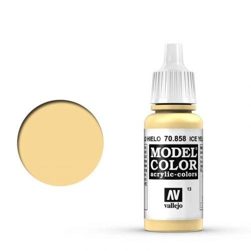 Vallejo Model Color: 013 Eisgelb (Ice Yellow), 17 ml (858)