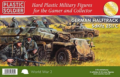 Plastic Soldier: 1/72 SdKfz 251 Ausf. C (Plastik x3)