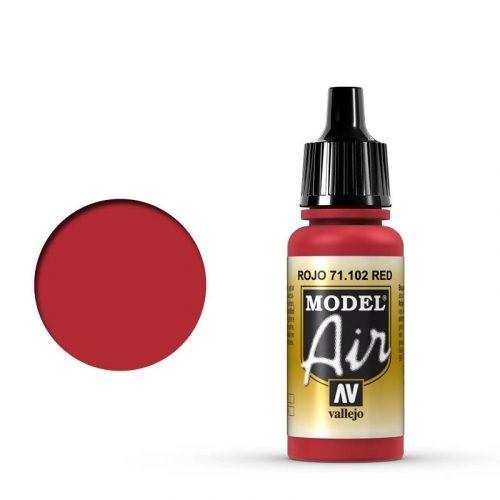 Vallejo Model Air: 71102 Red, 17 ml