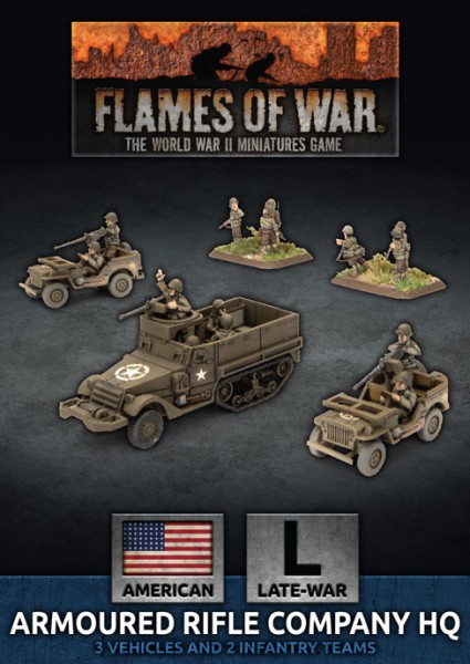 Flames of War US: US Armoured Rifle Company HQ (Plastic)