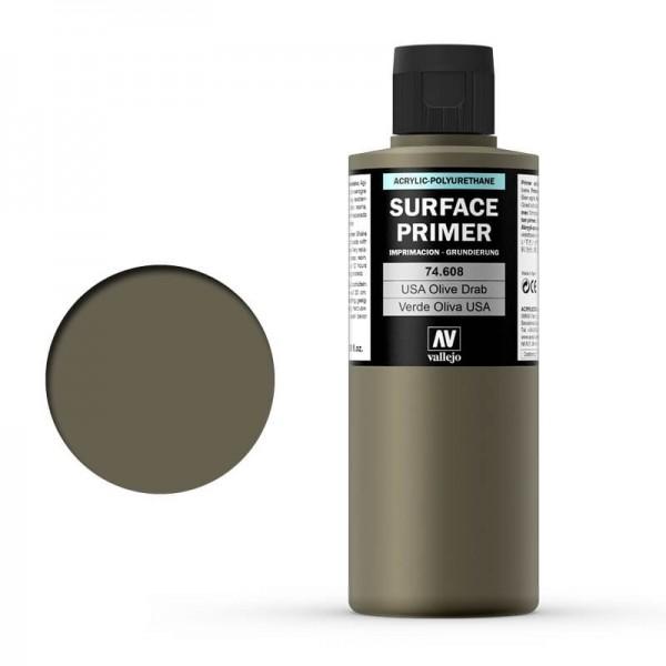 Vallejo Surface Primer US Olive Drab (200ml)