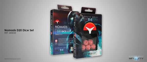 Nomads D20 Dice Set (Set of five 20-sided dice)