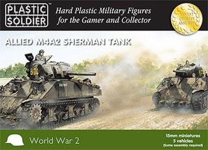 Plastic Soldier 15mm Sherman M4A2 Tank (für FoW)