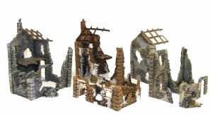 Bolt Action: Ruined Hamlet (3 buildings)