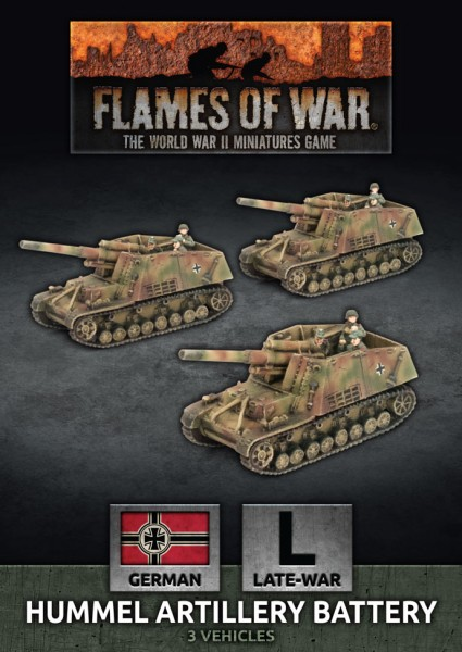 Flames of War GE: LW Hummel Artillery Battery (x3)