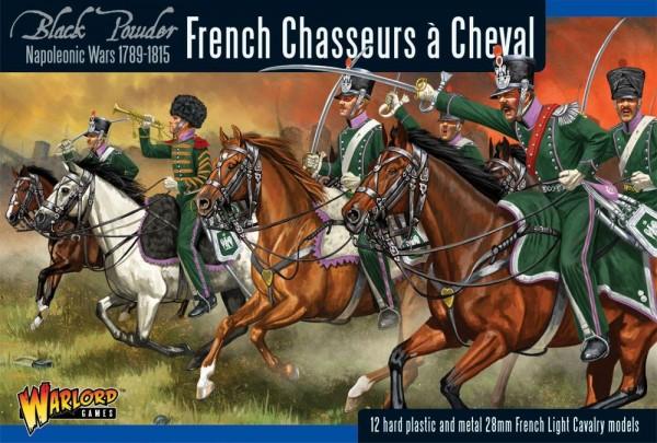 Black Powder French Chasseurs á Cheval (12 x Plastic)