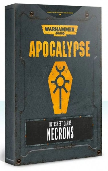 Apocalypse D/Sheets Necrons (engl.)