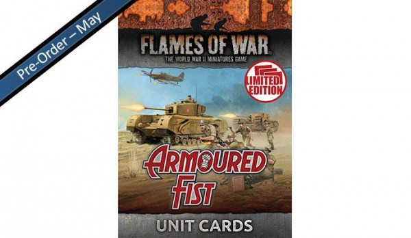 Flames of War BR: Armoured Fist Unit Cards