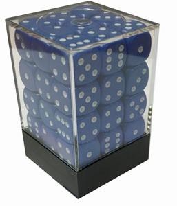 Würfelset: 36 Würfel, 12mm, opaque, blau