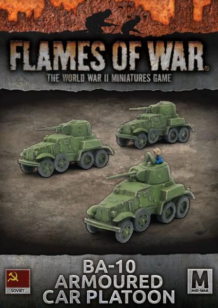 Flames of War SU: BA-10 Armoured Car Platoon (x3)