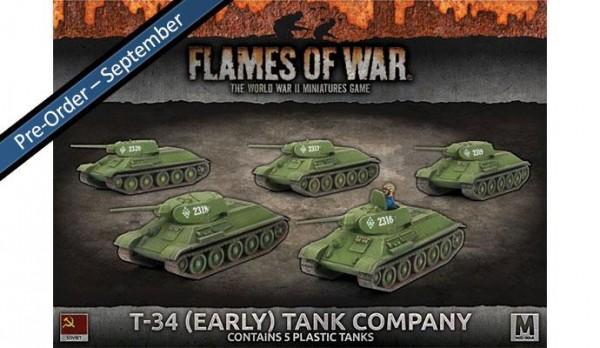 Flames of War SU: T-34 (early) Tank Company (x5 Plastik)