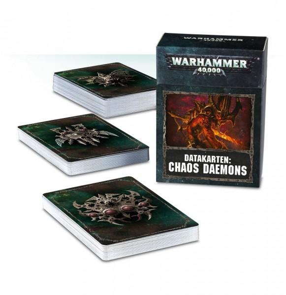 Warhammer 40k Chaos Space Marines: Chaos Dämonen des Chaos Datakarten (dt.)