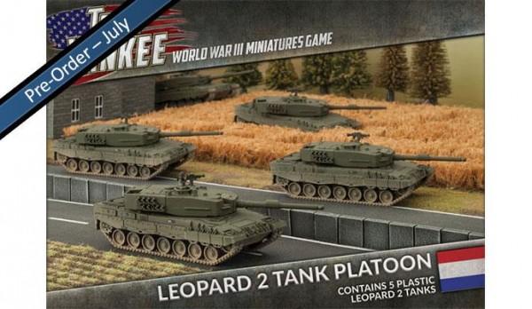 Team Yankee Dutch Leopard 2 Tank (Plasticx5)