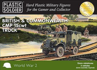 Plastic Soldier 15mm WW2 Bristish CMP 15cwt Truck x5
