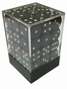 Würfelset: 36 Würfel, 12mm, opaque, schwarz