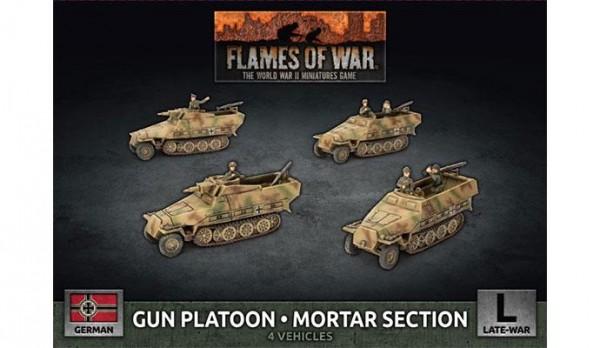 Flames of War GE: LW SdKfz 251 Gun & Mortar Section (x4 Plastik)