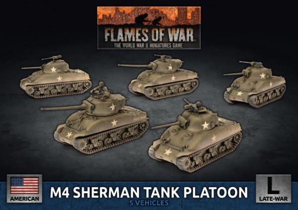 Flames of War US: US Army M4 Sherman Tank Platoon (Plastic)